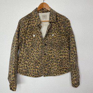 Torrid Denim 0 Denim Jacket Leopard Animal Print